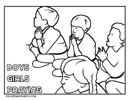 praying child coloring page eson me