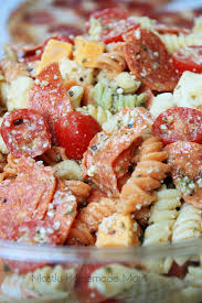 pepperoni pizza pasta salad video mostly homemade mom