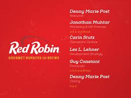 Seeking Robin Analyst Day Robin Gourmet Burgers Inc Nasdaq Rrgb