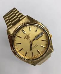 seiko steel bracelet images Seiko men 39 s snxl18 seiko 5 automatic gold tone stainless steel jpg