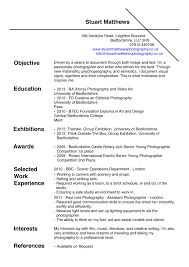 Sample Resume Format Uk by Photography Resume Examples Resume For Your Job Application