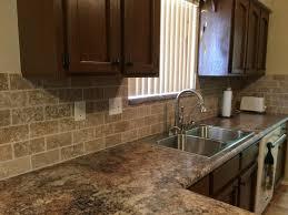 travertine kitchen backsplash kitchen travertine subway tile kitchen backsplash with a mosaic