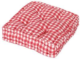Booster Cusion Pink Colour Gingham Check Dining Garden Chair Booster Cushion Seat Pad