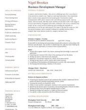 Business Manager Sample Resume by Resume For Business Manager