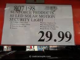 Solar Lantern Lights Costco - sunforce 80 led solar motion light