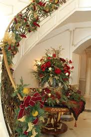 welcoming and festive holiday decor features lavish floral