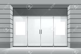 door design beautiful glass shop front door doors commercial