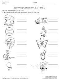 phonics b c d worksheet set
