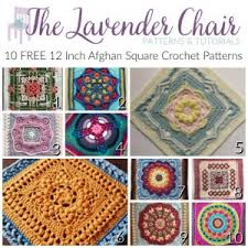 10 free 12 inch afghan square crochet patterns the lavender chair