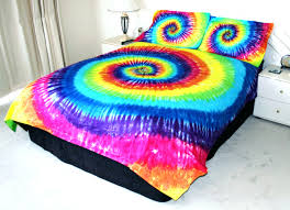duvet covers hand dyed rainbow tie dye duvet cover and pillow