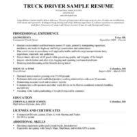 Truck Driving Resume Sample by Truck Driver Resume Sample With Excellent Summary And Resume