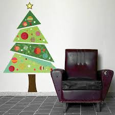 wall christmas tree fabric christmas tree wall sticker by spin collective