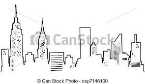 stock illustration of cartoon new york skyline cartoon
