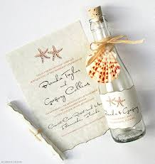 message in a bottle wedding watercolor starfish bottle invitation www mospensstudio