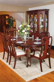 stunning queen anne cherry dining room set 11 in gray dining room