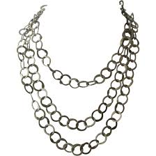 big chain necklace silver images Long sterling silver chain necklace big o links 44 quot mendocino jpg