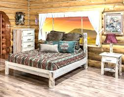 Pictures Of Log Beds by Log Full Size Bed Frame Bedroom Set Decofurnish Magnificent Cabin