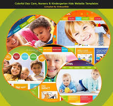 play school brochure templates colorful day care nursery kindergarten website templates