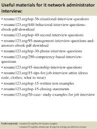 Networking Administrator Resume Top 8 It Network Administrator Resume Samples