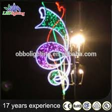 Christmas Decorations For Outdoor Lamp Post by Led Light Christmas Pole Motif Light Xmas Street Led Lighted