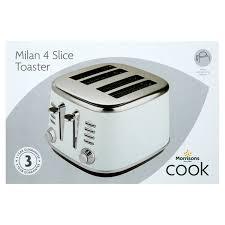 4 Slice Toaster White Morrisons Morrisons Matt White 4 Slice Toaster Product Information