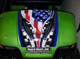 Confederate Flag Decals Truck Ezgo Golf Cart W Bright Green 19