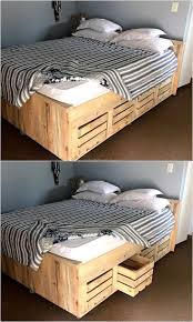 Bowery Queen Storage Bed by Best 25 Wooden Bed With Storage Ideas On Pinterest Wooden