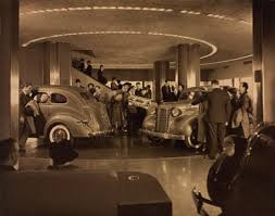 vintage photos chrysler building had an auto showroom in the