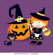 halloween trick treat kids pumpkin vector stock vector 710568514