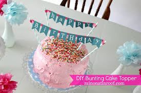 banner cake topper diy cake bunting topper