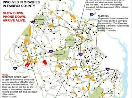 fairfax county map crash map pinpoints driver accidents in mclean mclean
