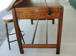 Mayline Oak Drafting Table Furniture Vintage Hamilton Drafting Table Hamilton Drafting