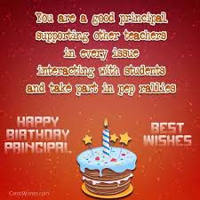 birthday wishes and messages for principal cards wishes