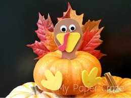 easy turkey pumpkin craft for kids at thanksgiving my paper craze