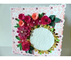 paper greeting cards paper lace border pink variety flowers greeting card buy