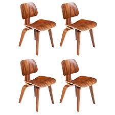 Molded Dining Chairs Eames Molded Plywood Dining Chairs In Palisander At 1stdibs