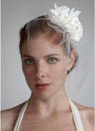 davids bridal hairstyles double flower tulle fascinator david s bridal