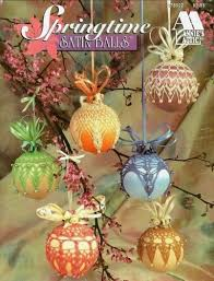 crochet springtime satin ornament cover pattern