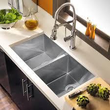 double sinks for kitchens kitchen vigo gauge double basin undermount stainless steel