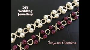 beaded bracelet necklace images Xoxo beaded bracelet wedding jewelry in 10 minutes diy jpg