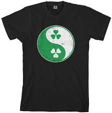 threadrock tees for adults and kids irish shamrock yin yang