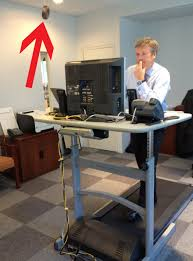 Standing Desk Treadmill Check Out The Donut Incentivized Treadmill Desk Used By Bbdo Ceo