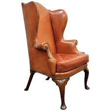 Distress Leather Chair Antique 19th Century Burnt Orange Distressed Leather English