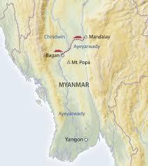 Irrawaddy River Map Flusskreuzfahrt Auf Der Sanctuary Ananda Mandalay Bagan