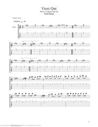 un gran bel vasco vieni qui guitar pro tab by vasco musicnoteslib