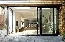 Bi Folding Glass Doors Exterior Ideas Folding Glass Patio Doors And Inside View Of Folding Patio