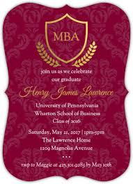 graduate school graduation invitations graduate school