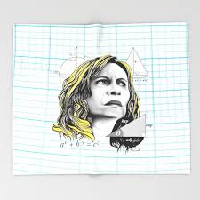 Blonde Meme - nazaré tedesco math lady confused blonde meme throw blanket by