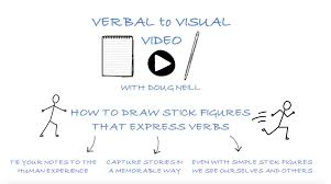 how to draw stick figures that express verbs verbal to visual