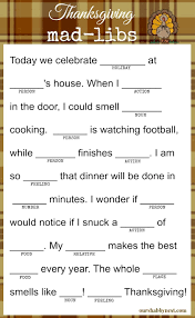 thanksgiving mad libs keep the and even the adults happy while